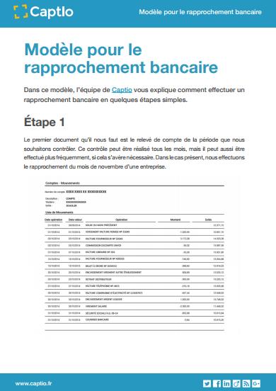 Modèle  pour le rapprochement bancaire - Plantillas